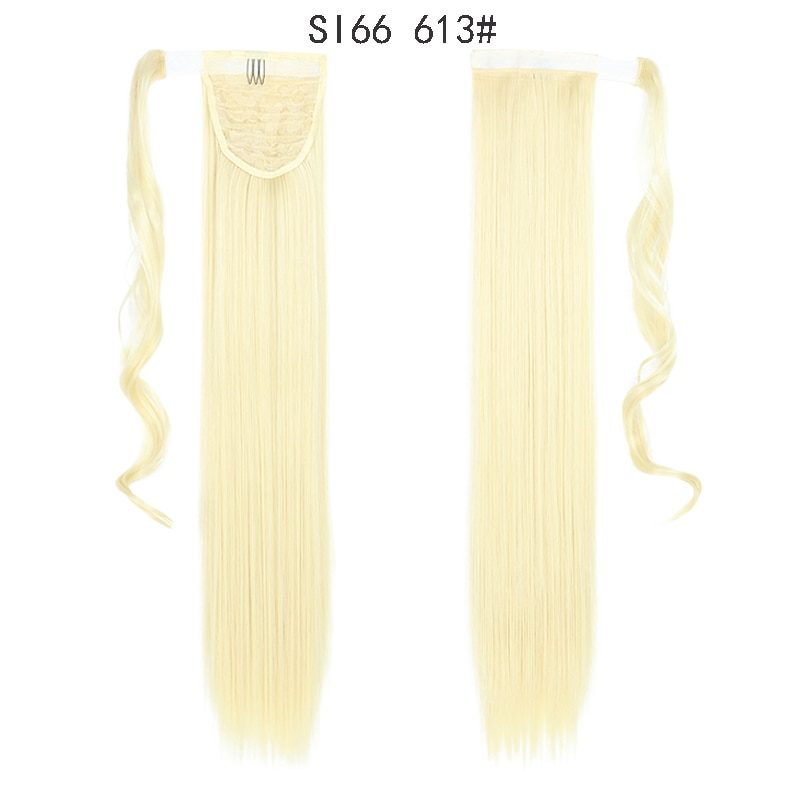 MERISIHAIR Long Straight Wrap Around Clip In Ponytail Hair Extension Heat Resistant Synthetic Pony Tail Fake Hair