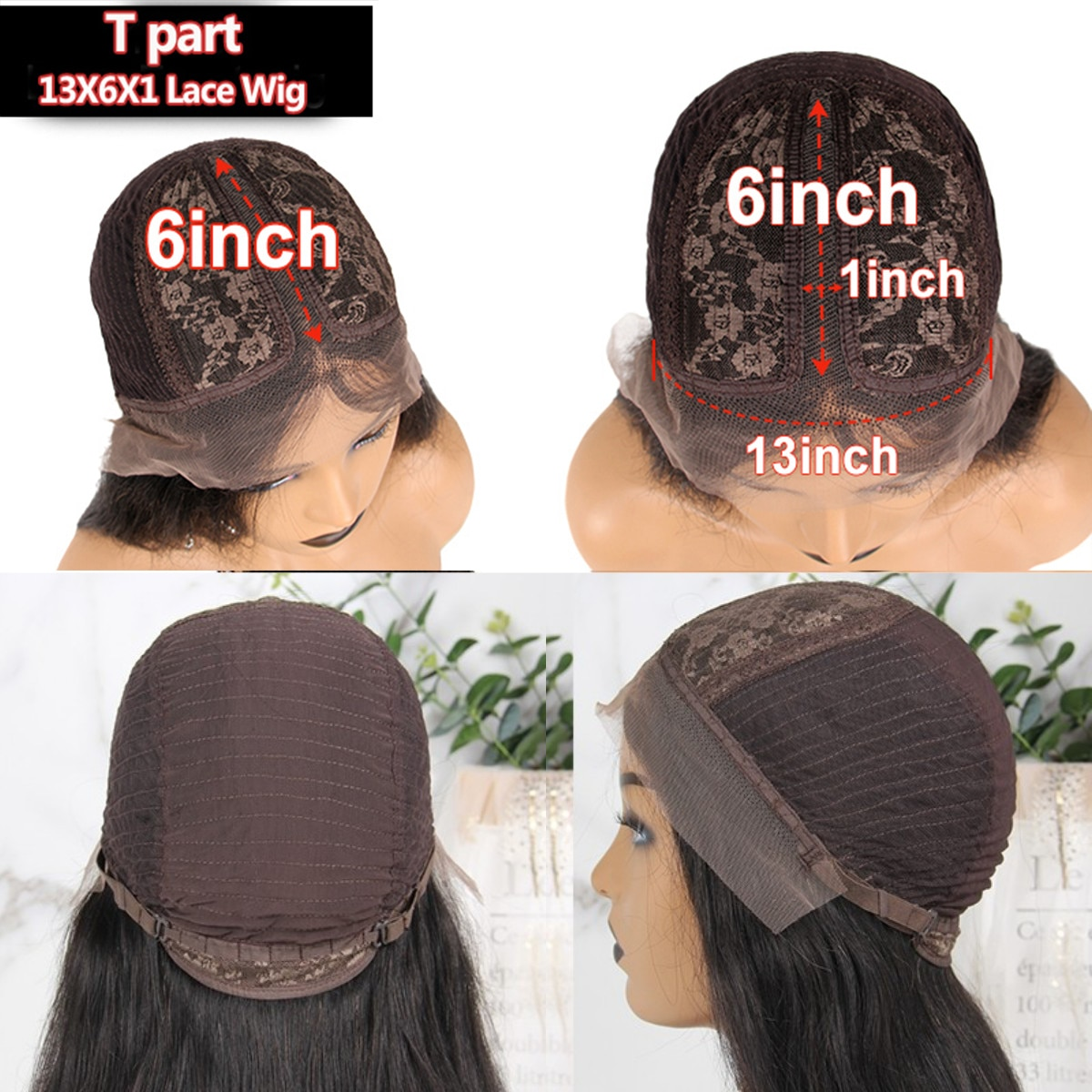 ALICROWN 180% Density 13*6 Curly Lace Front Human Hair Wigs Pre-Plucked Non-Remy Lace Front Wigs For Women Bleached Knots