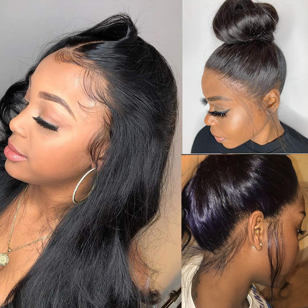 360 Full Lace Wig Human Hair Body Wave Lace Front Wig Pre Plucked 30 Inch Hd Full Lace Frontal Wigs For Black Women Human Hair