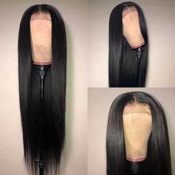 Natural color Full Lace Wig Human Hair Pre plucked With Baby Hair Brazilian Remy Glueless Full Lace Wigs Silky Straight