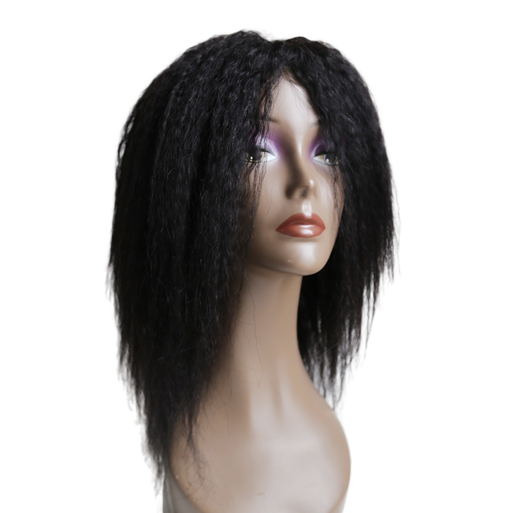 EMOL Kinky Straight Wig Full Machine Wig Yaki Human Hair Wigs For Black Women Brazilian Remy Italian Yaki Human Wig