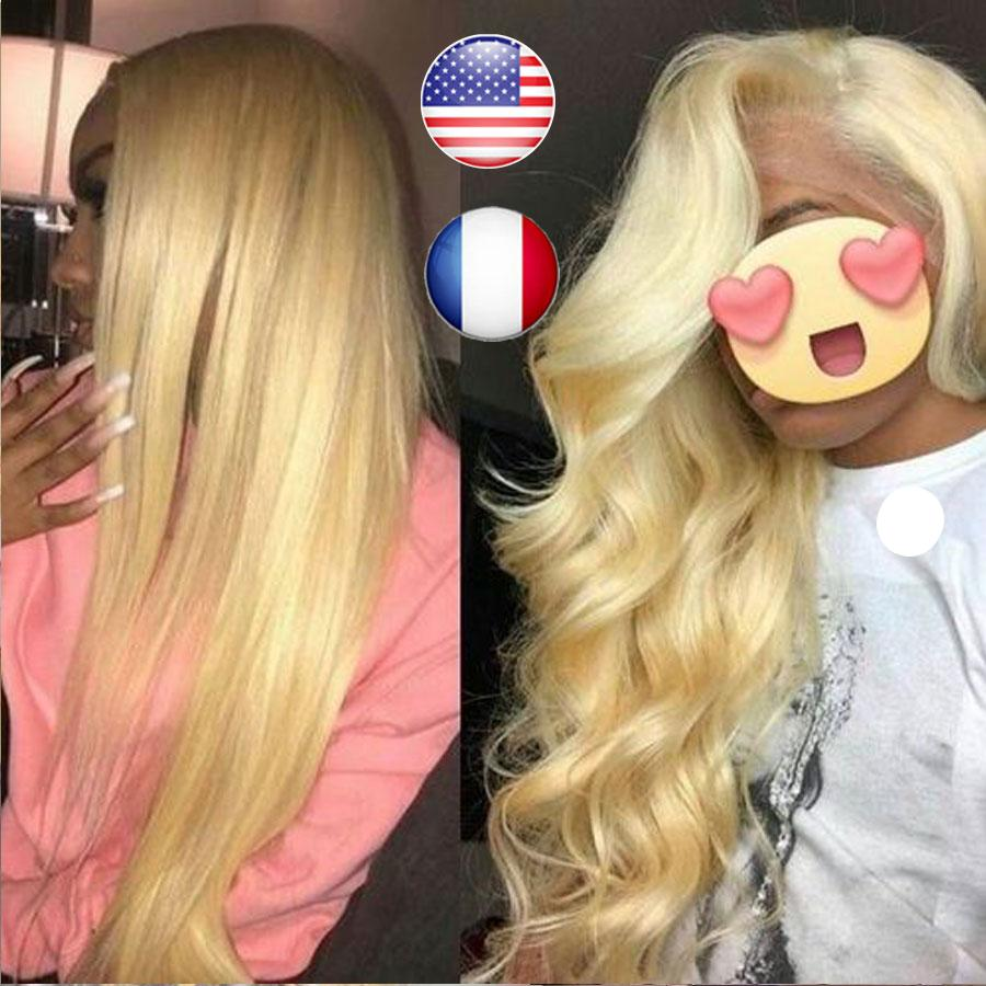 613 Blonde HD Lace Frontal Wigs Glueless Body Wave Pre Plucked Baby Hair 13x6 Lace Front Human Hair Wigs Natural Hairline