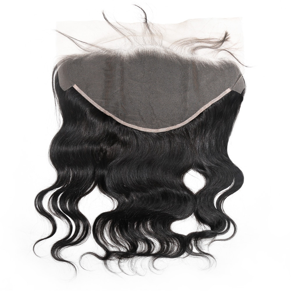 Alibd Body Wave 13x6 Lace Frontal Closure 100% Brazilian Human Hair Natural Color Remy Hair Swiss Lace Closure With Baby Hair