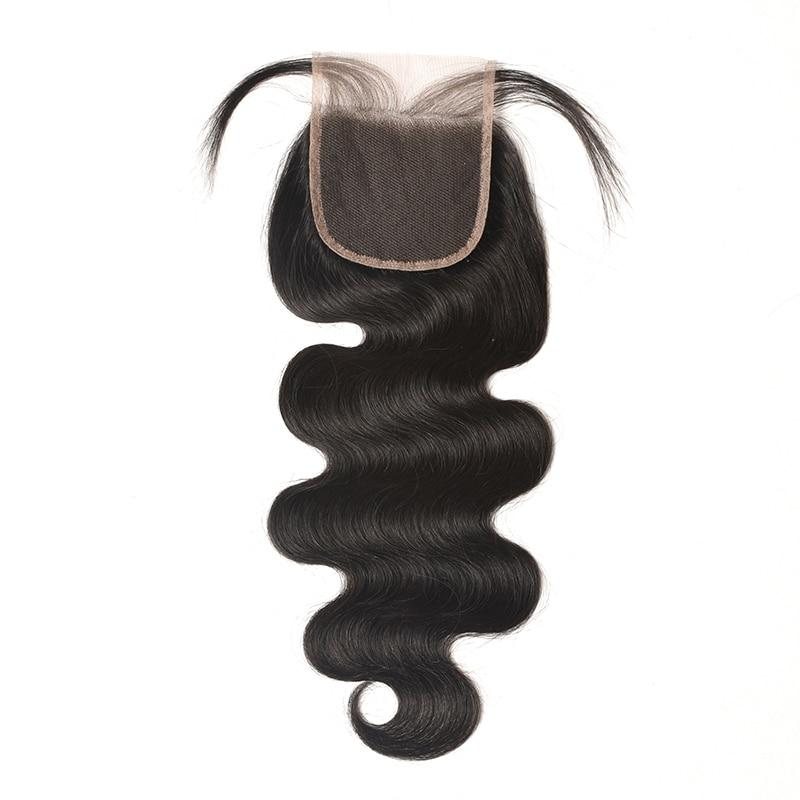Ali Coco Brazilian Hair Body Wave 4 Bundles With Closure 100% Human Hair Bundles With Closure Non-remy Hair Extensions