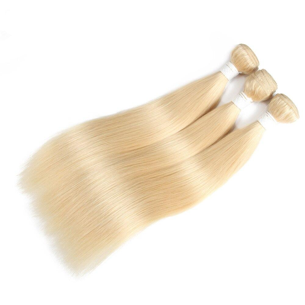 Ombre Blonde Straight Bundles With Frontal Honey 1B 613 Brazilian Remy Human Hair 3 Bundles With Lace Closure Frontal EUPHORIA